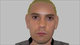 E-fit of man detectives want to trace