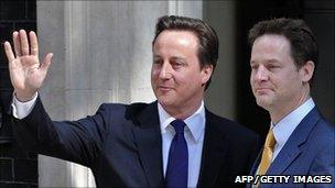 Prime Minister David Cameron and Deputy Prime Minister Nick Clegg, 12 May