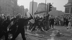 Poll tax riots in central London