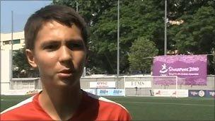 Singapore Youth Footballer Jeffrey Lightfoot