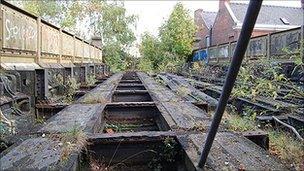Rail track on Friar Gate