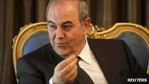 Head of the Iraqiya coalition Iyad Allawi