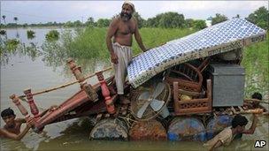 Flood victims in Pakistan