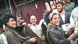 People in Lashkar Gah in March 2010