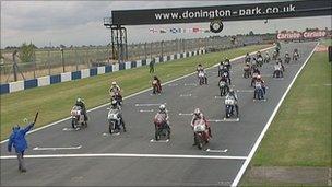 First race at Donington 08/10