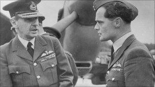 Douglas Bader and Air Chief Marshal Sir Hugh Dowding