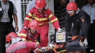 Newborn baby evacuated from Romanian hospital after fire