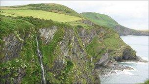The coast off Llangrannog