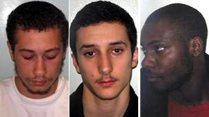 Gang members Callum Hall, Deniz Ozdil and Anthony Babalola