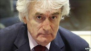 Radovan Karadzic on trial at The Hague