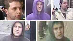 Football troublemaker suspects