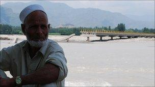 Broken bridge in Mingora