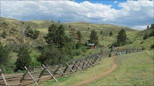 A ranch in Wyoming