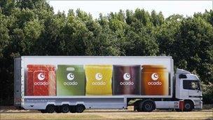 Ocado lorry