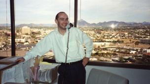 Shaun Attwood in his office in Phoenix