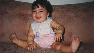 Alia Sabur as a baby of eight months (image by permission of same)
