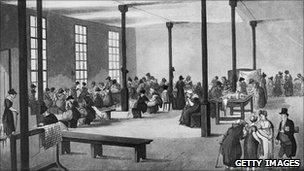 People in a workhouse from the Hulton Archive