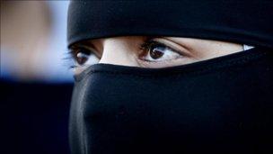 Woman wearing a niqab (generic)