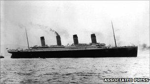 The Titanic on her maiden voyage