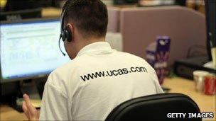 Ucas helpline worker