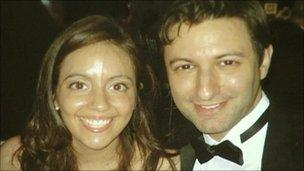 Sonia Stratis and her fiance Chris Tedeschi