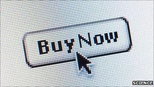Online shopping screen