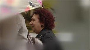 Jean Swift arriving at Plymouth Crown Court