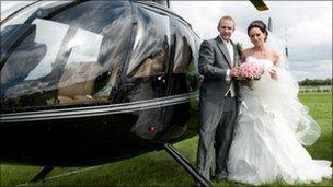 Anthony and Tina Lunt on their wedding day