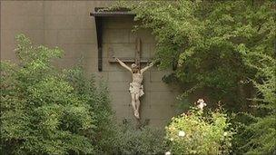 Crucifix at St Ursula's School, Bristol