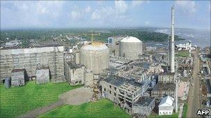 Tarapur Atomic Power Station in Thane district of Maharashtra state, India