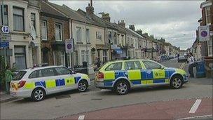 Police cordon at Balmoral Road