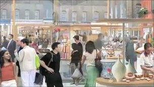 Artist's impression of redeveloped market