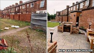 Ryan Street, Openshaw, before and after