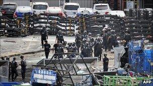 Ssangyong demonstration