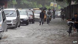 Heavy rains have led to floods in Delhi