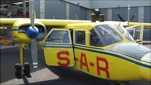 Channel Islands Air Search Islander plane