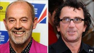 Keith Allen (left) and Phil Daniels