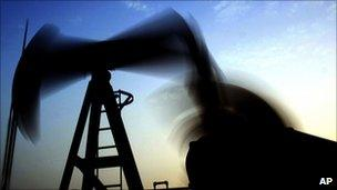 Oil being pumped in Bahrain