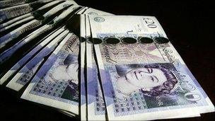 Bank of England genuine £20 notes