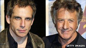Ben Stiller and Dustin Hoffman