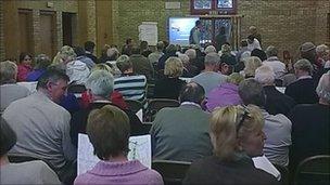 Public meeting at Leighton village hall, near Welshpool