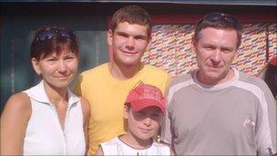 Janusz Marek and family