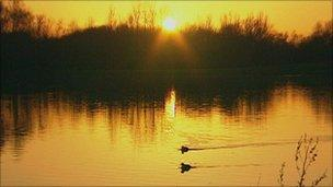Lake at Nottingham Arboretum