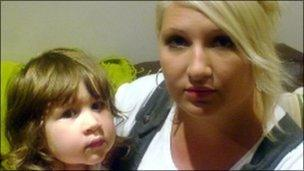 Amy Callaghan with daughter Tegan