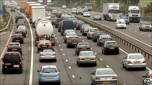 Road congestion on the M42