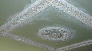 Restored ceiling in Bedwellty House