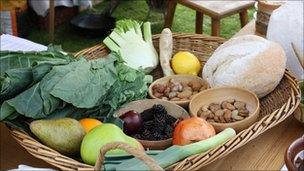 A basket of food. Pics: Wakefield Council
