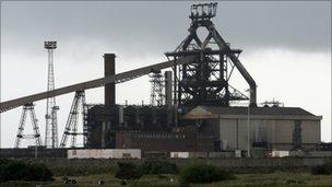 Corus steel works in Redcar