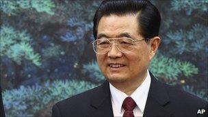 File image of Chinese President Hu Jintao