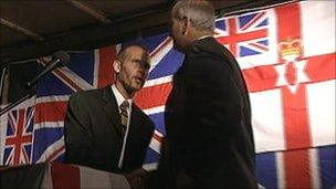 Billy Wright and DUP MP William McCrea